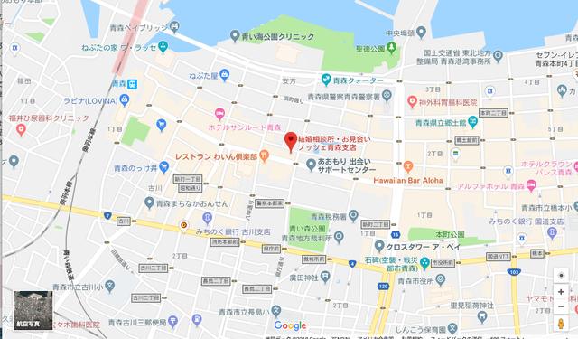 婚活恋活アプリ ノッツェ青森支店のアクセス地図