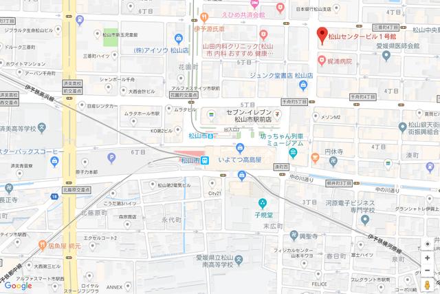 婚活恋活アプリ ウェブ松山支店のアクセス地図