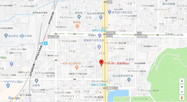 婚活恋活アプリ VOCE(ボーチェ)のアクセス地図