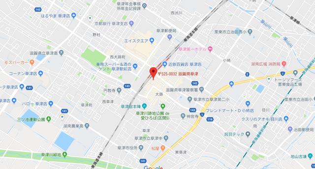 結婚相談所 フィオーレ滋賀店のアクセス地図