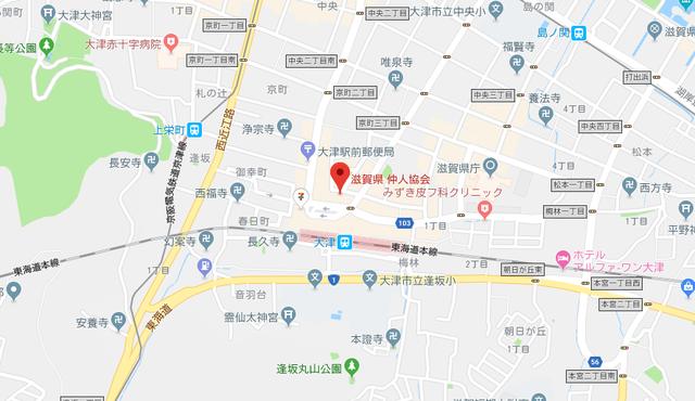 結婚相談所 滋賀県仲人協会のアクセス地図