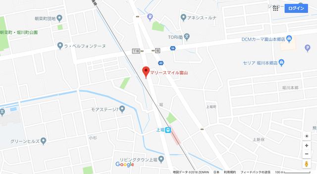 婚活のコツ マリースマイル富山のアクセス地図