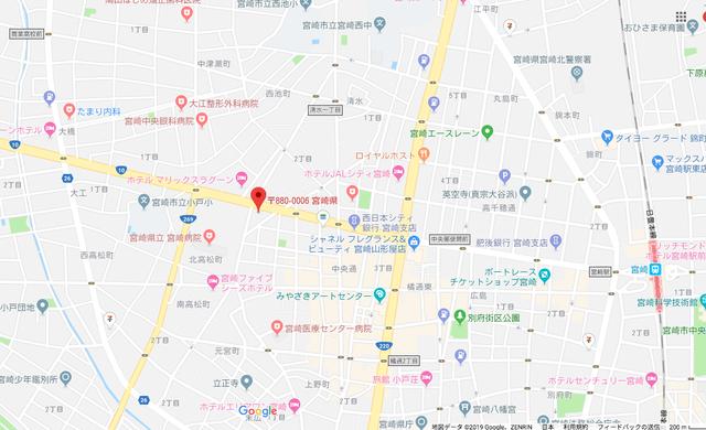 結婚相談所 ツヴァイ サテライト宮崎のアクセス地図