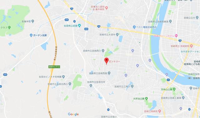 ツヴァイ エントリーのアクセス地図
