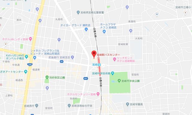 ツヴァイ みやざき結婚サポートセンター 宮崎センターへのアクセス地図