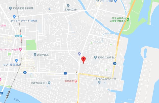 結婚相談所 ぱぁとなぁのアクセス地図