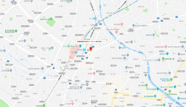 結婚相談所 楽天オーネット金沢支社へのアクセス地図