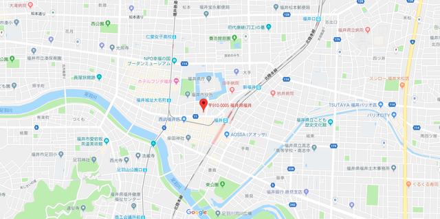 結婚相談所 ウェブコン 福井支店 へのアクセス地図