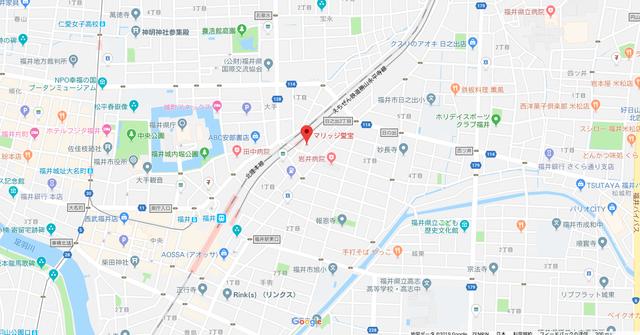 結婚相談所 マリッジ愛宝 福井支店へのアクセス地図