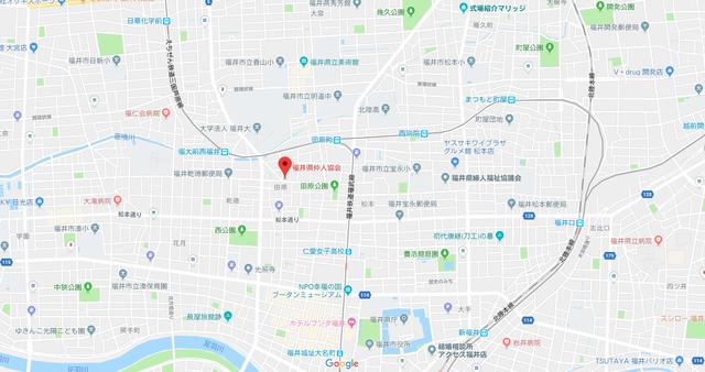 結婚相談所 福井県仲人協会のアクセス地図