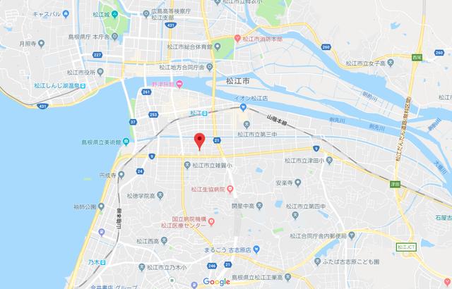 パートナーエージェント やしろメイト松江店へのアクセス地図