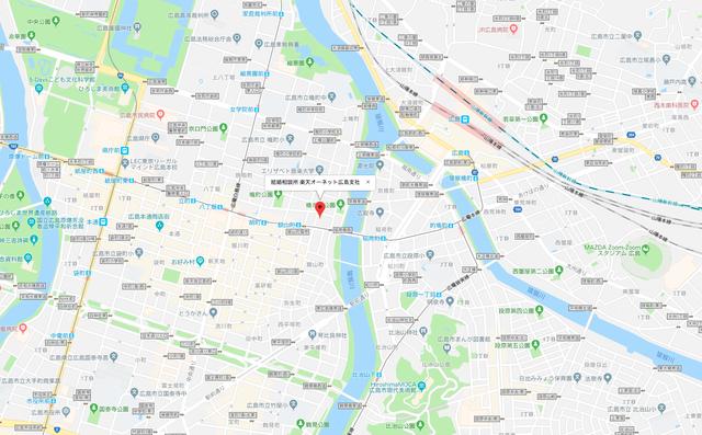 パートナーエージェント 楽天オーネット 広島支社へのアクセス地図