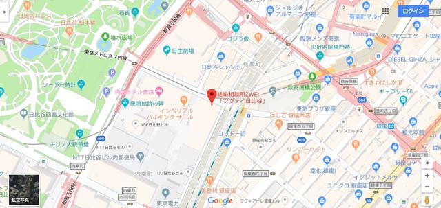 ツヴァイ 取材した日比谷本店へのアクセス地図