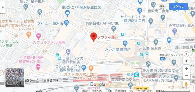 結婚相談所 ツヴァイ藤沢へのアクセス地図