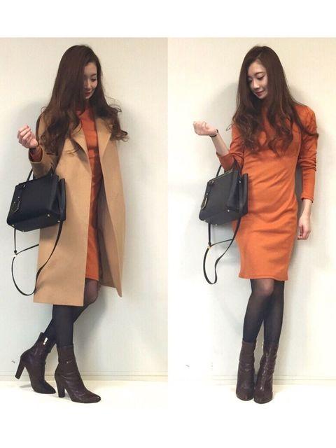 お見合い 【冬の服装】鮮やかカラーでゴージャスな雰囲気に