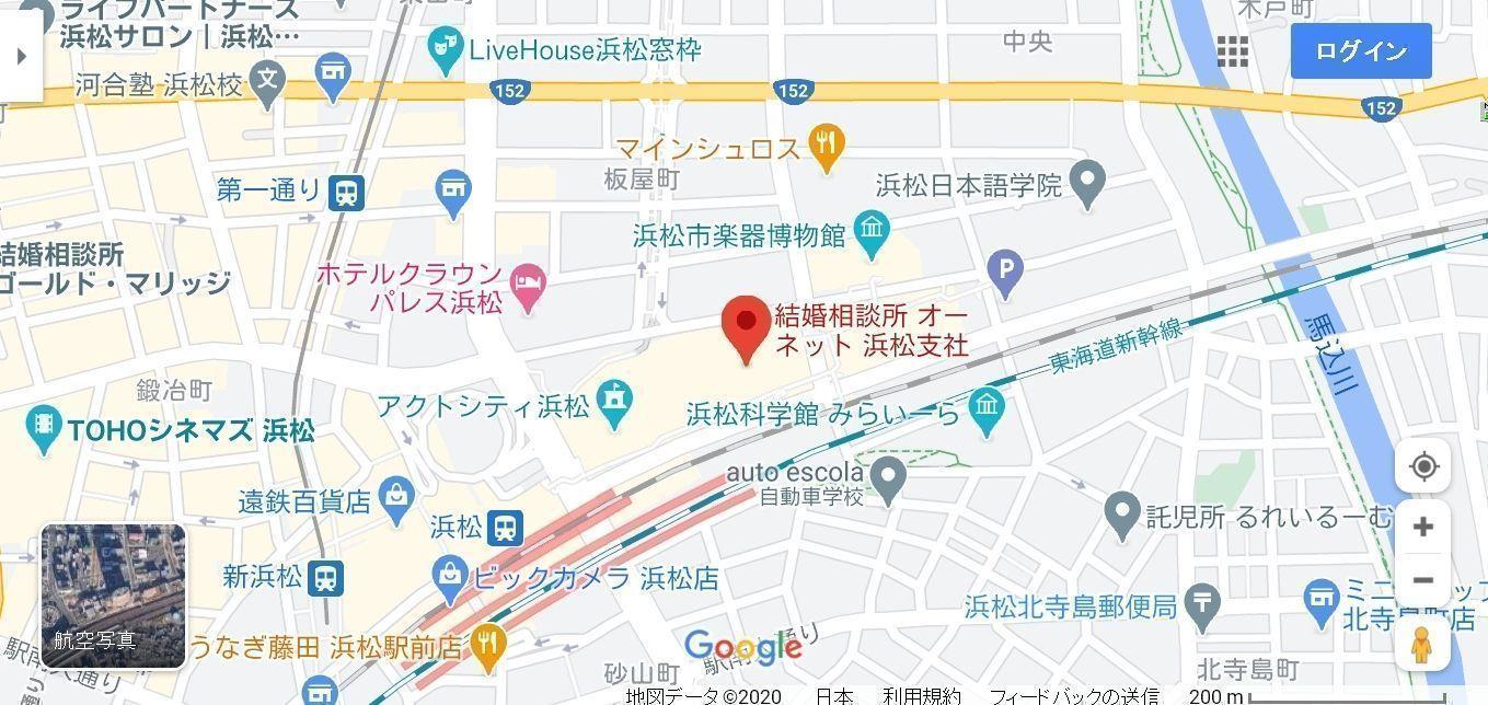 結婚相談所の基礎知識とコツ オーネット浜松支社へのアクセス地図